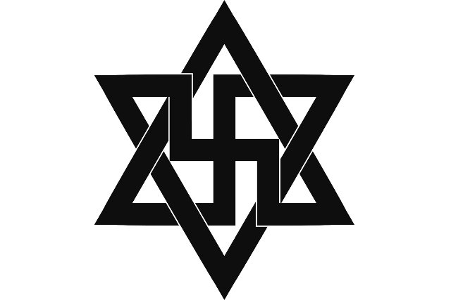 Symbol raelian, religii UFO, przez który rząd Izraela sprzeciwia się wybudowaniu raeliańskiej świątyni na ich terytorium
