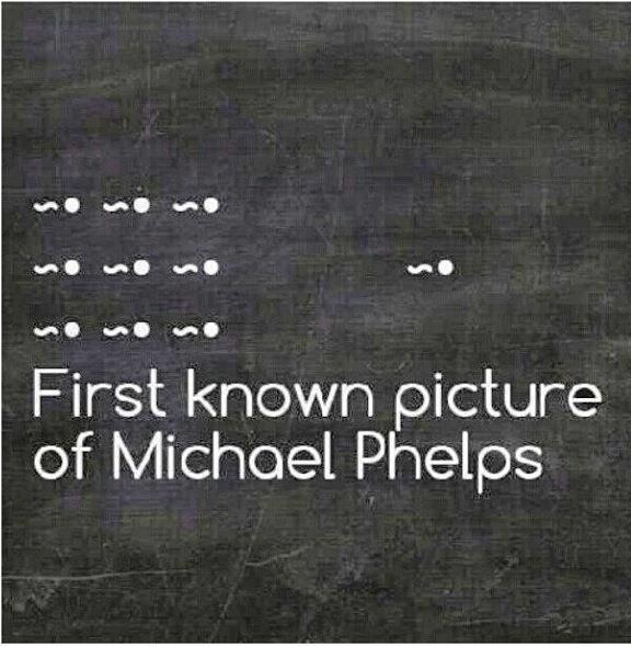 """""""Pierwsze zdjęcie Michaela Phelpsa"""""""