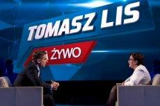 """Ustępująca premier Ewa Kopacz była gościem poniedziałkowego programu """"Tomasz Lis na żywo"""" na antenie TVP 2."""