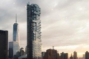 """Będący na ukończeniu wieżowiec w Nowym Yorku zachwyca mieszkańców metropolii """"klockową"""" architekturą"""