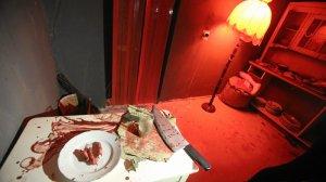 Śmiałkowie muszą mierzyć się z naprawdę hardkorowymi daniami. Dragon Horror House w Szczecinie.