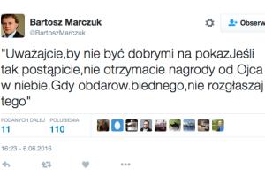 Wiceministrowi rodziny nie spodobała się ostentacyjna dobroczynność Zbigniewa Ziobry.