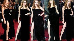 Angelina Jolie i jej noga na czerwonym dywanie