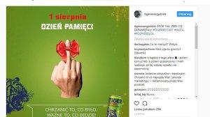Taki post widniał na profilu Tiger Energy Drink na Instagramie jeszcze w środowe południe. Kiedy zrobiło się o nim głośno, został usuinięty.