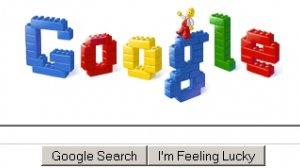Google z okazji 50-lecia ogłoszenia patentu (2008) zaprezentowało okazjonalne logo z Lego