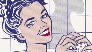 """Roy Lichtenstein  """"Kobieta w kąpieli"""""""
