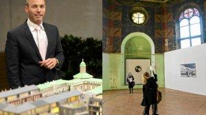 Wspołwlasciciel Angel Wawel Ron Ben Shaschar i makieta  inwestycji