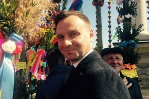 Kandydat PiS na prezydenta Andrzej Duda odwiedził w niedzielę palmową Lipnicę Muro