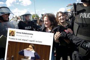 Anna Kołakowska już w zeszłym roku brała udział w demonstracjach narodowców. Teraz nawołuje w sieci do przemocy