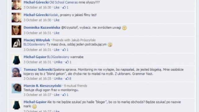 Wpis, po którym do Segritty odezwał się przedstawiciel Nikona (kliknij, aby powiększyć)