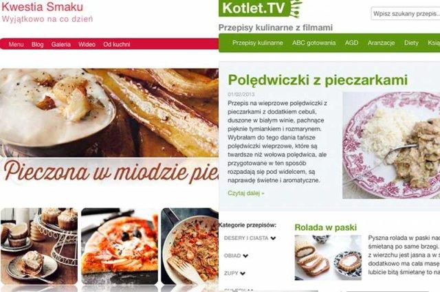 Blogi kulinarne choć nie są powszechnie znane, w statystykach cieszą się największą popularnością. W czołówce jest m.in. KwestiaSmaku.com i Kotlet.tv.