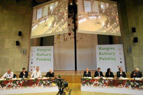 Dyskusja o kulturze pod przewodnictwem prof. Jerzego Hausnera podczas Kongresu Kultury Polskiej w Krakowie, 23.09.2009