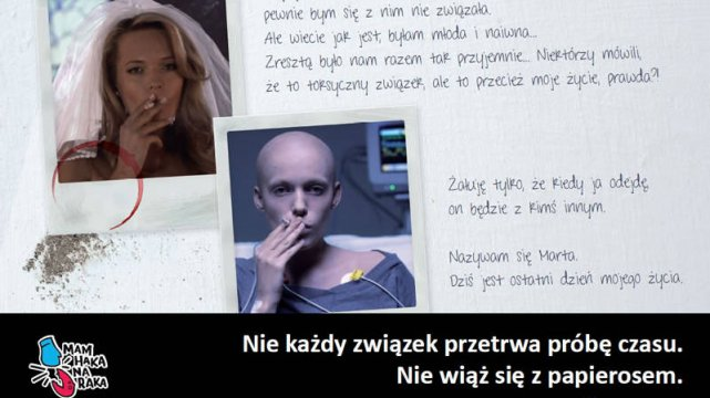 """Plakat z kampanii społecznej """"Mam haka na raka"""""""