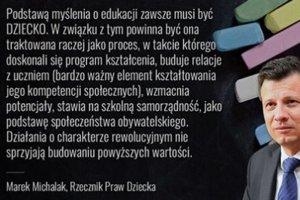 Rzecznik Praw Dziecka napisał do minister Anny Zalewskiej zaniepokojony reformą edukacji.