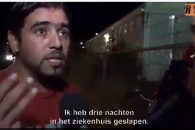 Screen z filmiku w którym uchodźcy opowiadają o swoich problemach z seksem
