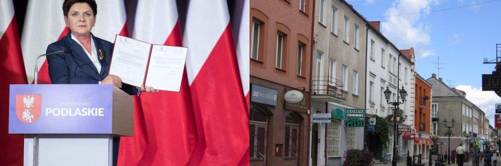 """""""To był dobry rok"""" – mówiła premier Beata Szydło w Łomży."""