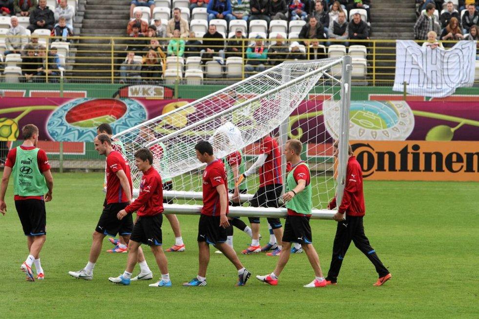 Czesi (na stadionie Śląska Wrocław przy Oporowskiej) jeszcze przed mistrzostwami zdobyli pierwszą bramkę.
