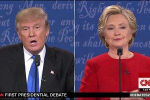 Pierwsza debata prezydencka w USA to wygra Hillary Clinton.