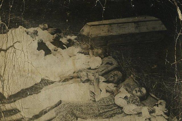 Rodzina Rudnickich zamordowana przez UPA we wsi Chobułtowa, powiat Włodzimierz.