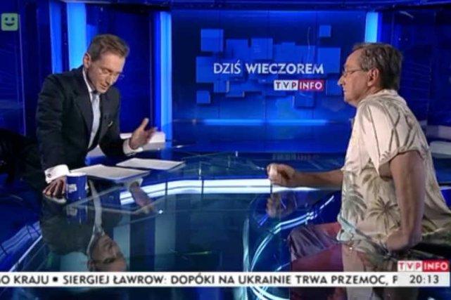Wojciech Cejrowski rozsypał w studiu TVP sól egzorcyzmowaną.