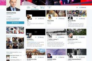 Oto część kont śledzonych przez Andrzeja Dudę.