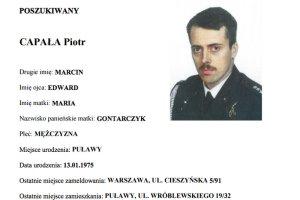 Prokuratura Okręgowa w Warszawie poszukuje listem gończym por. rez. Piotra Capałę, który jest podejrzany o szpiegostwo na rzecz Rosji.