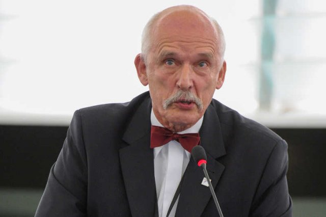 Janusz Korwin-Mikke chełpił się odkryciem unijnego absurdu, a tylko się ośmieszył.