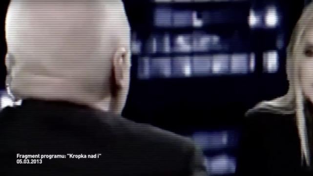 W spocie użyty został fragment programu Moniki Olejnik.
