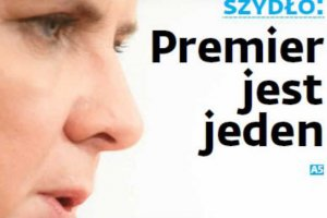 """Beata Szydło obwieszcza, że """"premier jest tylko jeden""""."""
