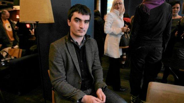 Grzegorz Lewandowski- właściciel Chłodnej 25 w swoim klubie.