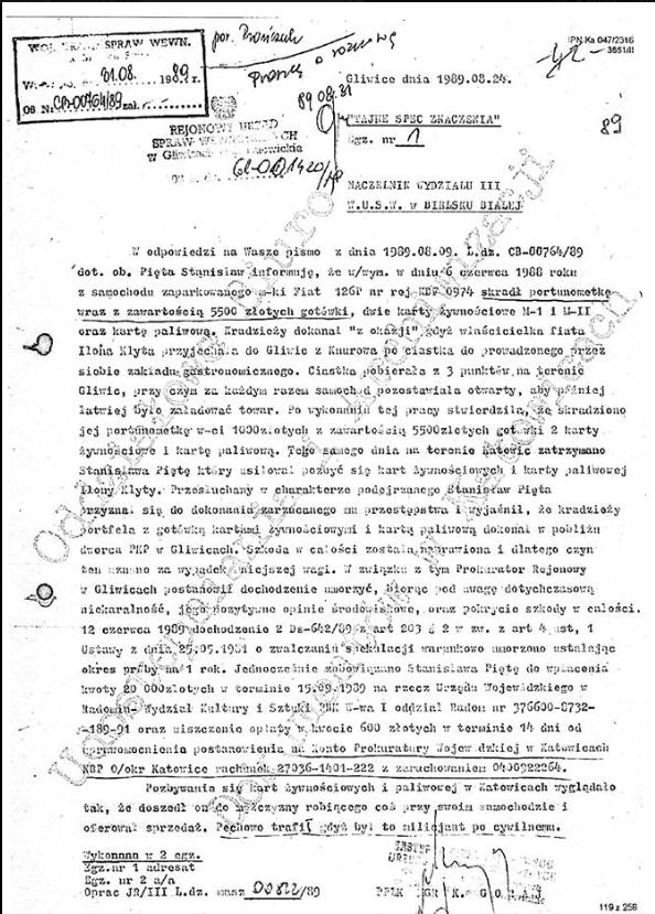 Niewygodny dokument w październiku opublikował Bronisław Foltyn