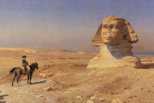 Napoleon przed sfinksem. Kampania egipska pozwoliła Europejczykom na nowo odkryć starożytną cywilizację.