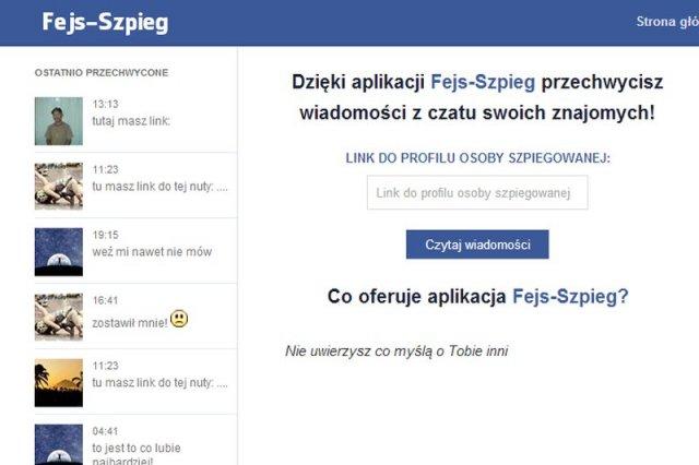 Fejs-szpieg.pl to prawdopodobnie kopia osławionego Szpieg-fb.pl, który naciągał na SMS za 40 zł miesięcznie...