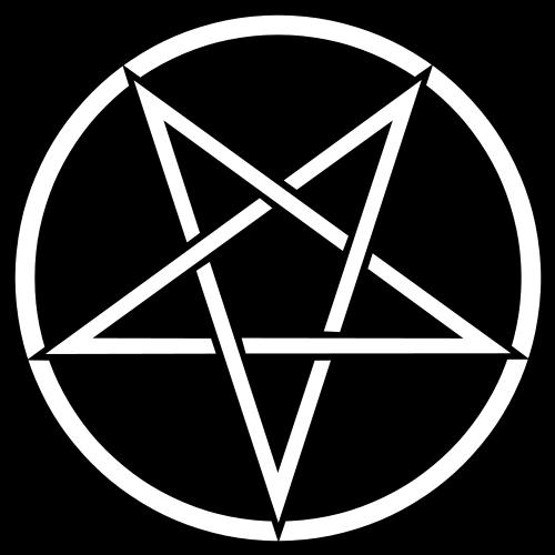 Odwrócony pentagram, znak współczesnych satanistów