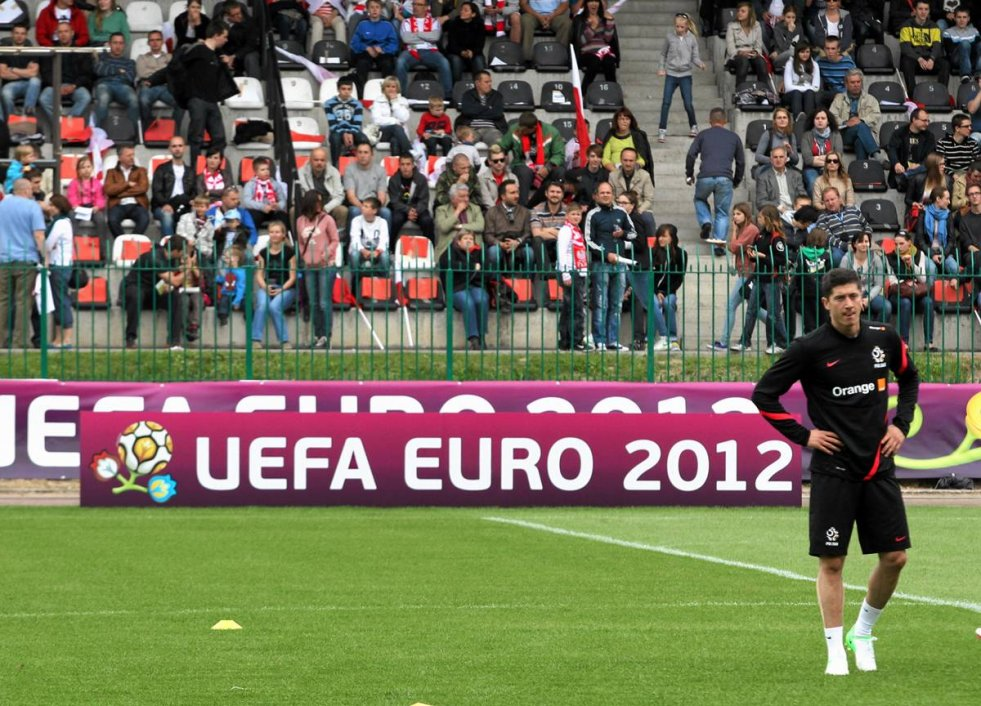 Na zdjęciu Robert Lewandowski, napastnik naszej reprezentacji.