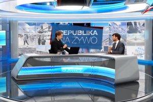"""Kadr z programu """"Republika Na Żywo"""""""