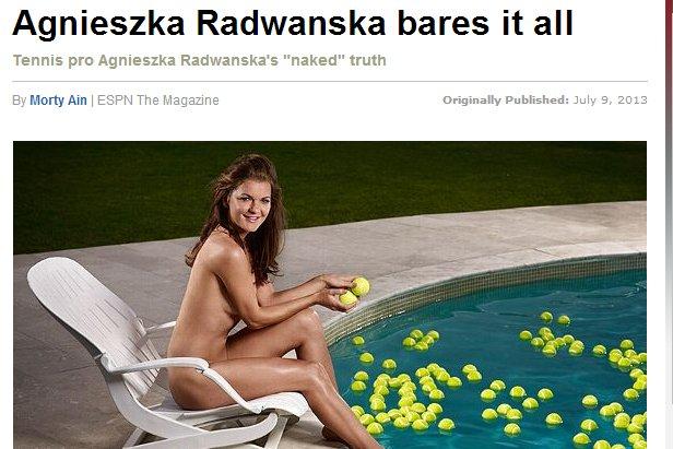 Agnieszka Radwańska nago już niedługo w ESPN Magazine Body Issue