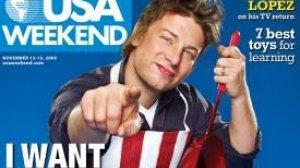 """Okładka """"USA Weekend"""" z Jamie Oliverem"""