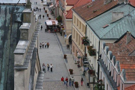 Widok z Bramy Opatowskiej.