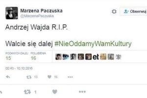 Znani reżyserzy oburzeni wpisem Marzeny Paczuskiej.
