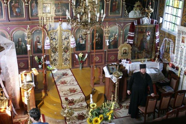 Wnętrze cerkwi unickiej w Kostomłotach.