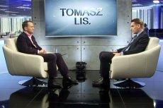 """Radosław Sikorski był gościem programu """"Tomas Lis."""" nadawanego w Onet.pl i Newsweek.pl."""