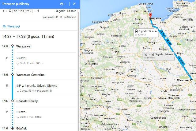 Pkp Intercity Wspolpracuje Z Google Em Na Mapach Pojawily Sie