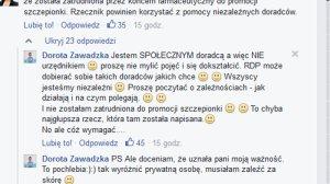 Komentarz Justyny Sochy