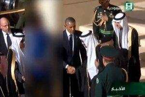 Kadr z rzekomo ocenzurowanej transmisji saudyjskoarabskiej telewizji
