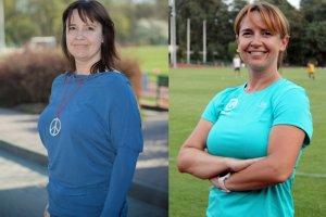 Po lewej: Ewa - przyszła biegaczka (kwiecień 2014). Po prawej: Ewa - przyszła maratonka (wrzesień 2015)