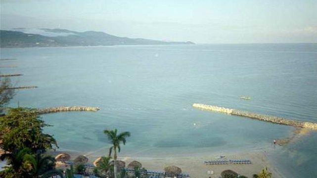 Widok z pokoju Sunset Beach Resort w Montego Bay na Jamajce