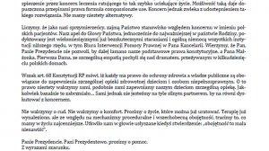 List otwarty do prezydenta Andrzeja Dudy i jego małżonki.