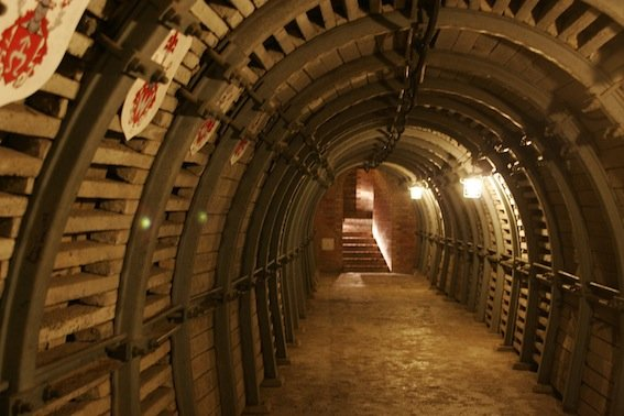 Korytarz pod sandomierską Starówką wykuli górnicy z Bytomia.