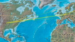 Żółte linie pokazują drogę naszego adresu IP.